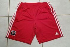 Rare Vintage ADIDAS Chicago Fire MLS 2008 Soccer Shorts Men's 2XL