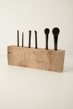 Oakwood Makeup Brush Holder by Tyler Kingston