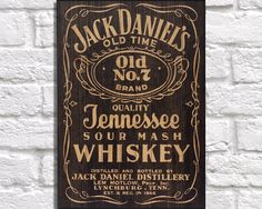 Vintage wooden sign, Jack Daniels / Whiskey panel effect art print, baked onto a wood sheet. by Woodprintz on Etsy https://www.etsy.com/listing/244388849/vintage-wooden-sign-jack-daniels-whiskey