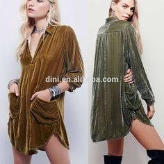 Check out this product on Alibaba.com App:fashion autumn winter style Gold velvet vintage women dress hippie bohemian pockets V-neck party vestidos femininos 2016 dresses https://m.alibaba.com/Qj2Mj2