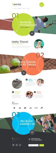 Sports / Tennis website design - #tenniswordpressthemes #sportswebdesign
