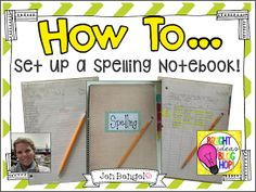 Check out this blog post on how I set up  Spelling Notebooks!!