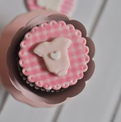 Plaid Patterned Baby Themed Cupcake