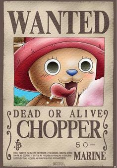Poster One Piece, Chopper, Se Busca. 98 x 68 cm Foto 1