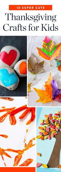 10 Super-Cute Thanksgiving Craft Ideas for Kids via @PureWow #thanksgivingcrafts
