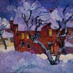 Wintertime by Larisa Aukon Oil ~ 30 x 30
