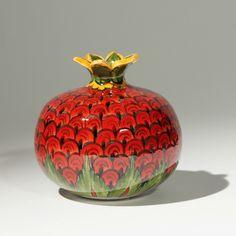 Ceramic Clay, Glazed Ceramic, Ceramic Vase, Ceramic Pottery, Slab Pottery, Clay Art Projects, Ceramics Projects, Pomegranate Art, Organic Ceramics