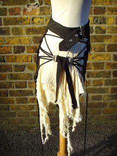 Post apocalyptique plus asymétrique jupe vêtements par TheLastKult