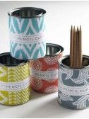 DIY Pencil Cup-just glue your scrapbook paper on a recycled can!