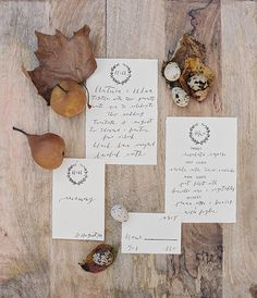 Autumn-inspired stationery