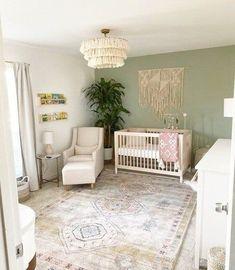 Little Bunny Foo Foo - Project Nursery - Nursery Room - # Baby Room Design, Baby Room Decor, Baby Room Colors, Nursery Design, Nursery Layout, Baby Nursery Neutral, Green Accent Walls, Green Accents, Chic Nursery