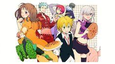 Seven Deadly Sin Nanatsu No Taizai Anime Characters 1366x768