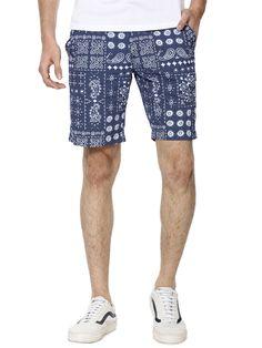 Blue Saint Vintage Printed Shorts