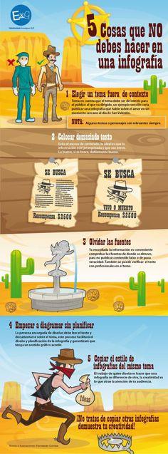 """Hola: Compartimos una interesante infografía sobre """"Infografías – 5 Cosas que Debes Evitar al Construirlas"""" Un gran saludo.  Visto en: ticsyformacion.com  También le p…"""