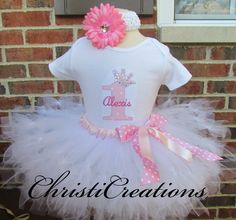 Baby Girl 1st Birthday Petti Tutu Set--Princess--Party Outfit--Personalized