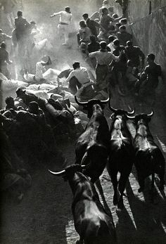 Fiesta in Pamplona, by Inge Morath
