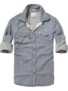 Jersey lined checkered shirt //