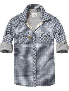 Jersey lined checkered shirt //