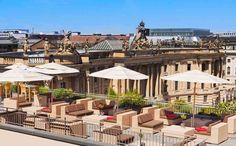 The historic and elegant Hotel de Rome has a prestigious setting in Bebelplatz, close to museums, shopping, and great opera. Rooftop Berlin, Rooftop Bar Bangkok, Best Rooftop Bars, Rooftop Patio, Rome, Good Environment, Restaurant Interior Design, Hotels And Resorts, Luxury Hotels