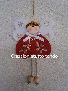 Embellished felt angel Christmas ornament