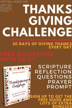 Join in for 30 days of gratitude for the month of November. Every day has a unique Scripture, reflection question, prayer prompts and a place to record your thankfulness. Join today for free! Prayers Of Gratitude, Prayers For Strength, Daily Scripture, Scripture Reading, Thanksgiving Prayers For Family, Prayer Of Thanks, Family Bible Study, Reflection Questions, Devotional Quotes