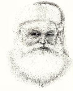 Image detail for -Larger image of Santa Claus graphite pencil illustration