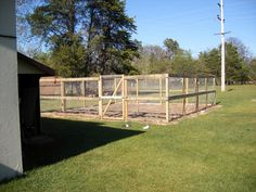 Build a deer fence for fruit trees and vegetable garden