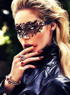 Elegant Black Venetian Vine Masquerade Mask - Vine Mask Made of Filigree Metal & Diamonds For Masquerades, Costumes, Weddings, Holiday Gift on Etsy, $32.95  Bride reception