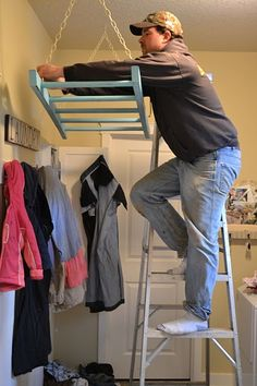Ladder Laundry Rack--this would be great for drying diapers inside