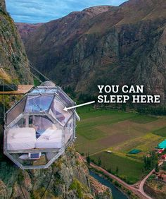 Are you brave enough to spend a night in one of these totally transparent pods, hanging in the middle of the amazingly high cliff? Well, the view alone is probably worth trying!