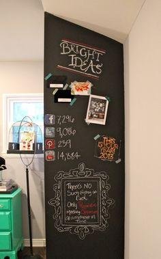 chalkboard paint inspiration wall.