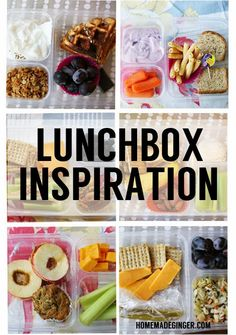 Lots of creative and healthy lunch ideas. Most are vegetarian!