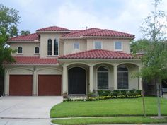 Glamorous House Two Floors With Fascinating Exterior Paint Colors Using Red Roof…