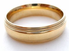 14K Yellow Gold Wedding Band Mens 6mm Comfort Fit Ring 8 Grams Size 10 Vintage | Jewelry & Watches, Fine Jewelry, Fine Rings | eBay!