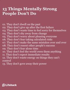 don't do - Learn From Them To Become Mentally Stronger