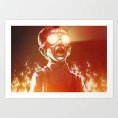 FIREEE! Art Print by Dr. Lukas Brezak - $21.00