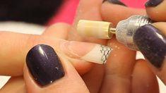 Infill an Acrylic Nail Tutorial Video by Naio Nails - Valentine's 💘 Acrylic Nail Designs Glitter, Nail Polish Designs, Nail Art Designs, Acrylic Nails, Shellac Nails, Toe Nails, Chris Brown, Nail Extensions Acrylic, Valentine Nails
