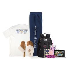 """{read d}"" by ellapearlrose ❤ liked on Polyvore featuring Vineyard Vines, UGG Australia, The North Face, Lilly Pulitzer, Microsoft and Majorica"