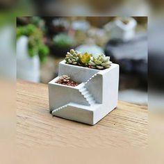 3 Cavity Silicone Pot Mold Clay Concrete Succulent Flower Cement Pot Cup Moubw