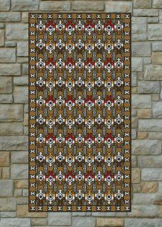 """✄ PATRON PUNTO CRUZ  """"Alfombra Nativa VIII""""  Para bordar con Lanas.  158 puntos de ancho  355 puntos de largo.  Utiliza 10 colores . http://puntocruzandino.weebly.com/"""