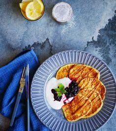 KLASSISKE PROTEINRIKE LAPPER TIL FROKOST - Bakekona Frisk, Cottage Cheese, Grill Pan, Grilling, Kitchen, Griddle Pan, Cooking, Kitchens, Grill Party