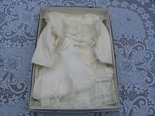 Vintage Quiltex Baby Cream Colored Dress Set
