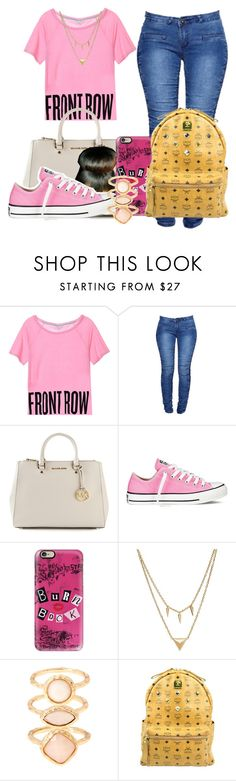 """""""gm"""" by flawlesslyfashionista ❤ liked on Polyvore featuring Boohoo, MICHAEL Michael Kors, Converse, Casetify, Edge of Ember, Monsoon and MCM"""