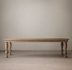 RH's 19th C. Oak Baluster Rectangular Dining Table:Taking its cue from 19th-century European designs, our architecturally inspired dining table sits atop shapely, hand-turned balusters resting on ball feet. The softly weathered finish imparts the patina and presence of an heirloom.