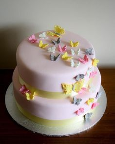 Butterflies birthday cake beautiful... @Kristen Groetz I know this is out, but omg... how gorg!