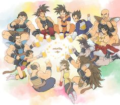 Vegeta and Goku with the Saiyans