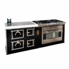 Cucina a legna da 60 abbinata a gas della ILVE da 90 x 60, colore ...