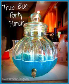 Tiffany blue punch....No lemonade...Made with Polar Blast Hawaiian ...