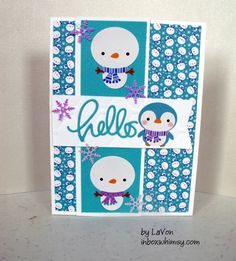 https://flic.kr/p/BFx3Yo | Winter Hello | Used the January SSS kit of the month to create this one.