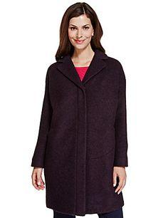 Wool Blend Penny Coat | M&S